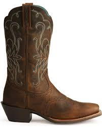 ariat saddle vamp legend riding cowgirl boots square toe