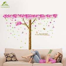 cherry home decor large size butterfly cherry tree diy vinyl wall stickers home