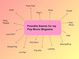 Ideas With A Name Pop Magazine Ideas