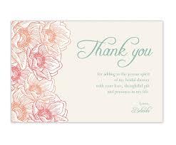 wedding thank you cards astounding wedding shower thank you cards