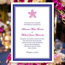 Royal Blue Wedding Invitations Beach Starfish Wedding Invitation Fuchsia Pink Royal Blue