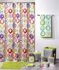 Bright Shower Curtain Washable Shower Curtain Contemporary Modern Bright Colors