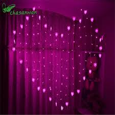 heart shaped christmas lights new heart shaped love curtains to marry wedding decoration led light
