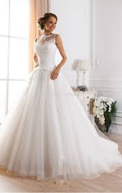 illusion neckline wedding dress aliexpress buy custom made vestidos de novia a line illusion