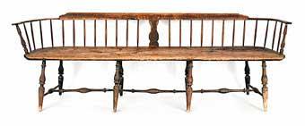 Antique Windsor Bench Colonial Sense Antiques Auction Results April 2012