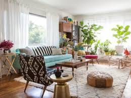 Retro Livingroom by Living Living Room Vintage Living Room Design With Blue Sofa And