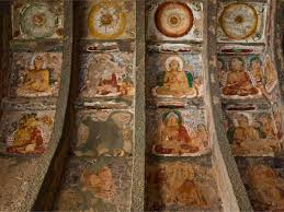 ancient and medieval indian cave paintings internet encyclopedia ajanta caves mural on vaults