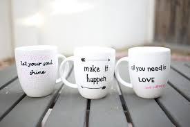 Nice Coffee Mugs Diy Quote Stenciled Sharpie Mugs Popsugar Smart Living