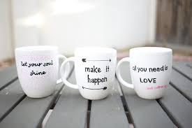 Coffee Mugs For Guys Diy Quote Stenciled Sharpie Mugs Popsugar Smart Living