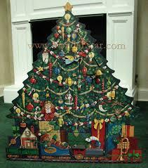 wood advent calendar christmas tree advent calendar yonder christmas shop llc