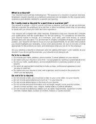 Summer Job Resume Sample Sample Teenage Cover Letter Resume Sample