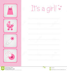 baby girl cards baby girl arrival card stock images image 18523284