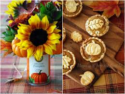 mini pumpkin pies and a blooming can home is where the boat is