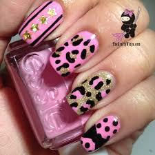 pink leopard print nails nails art nails design