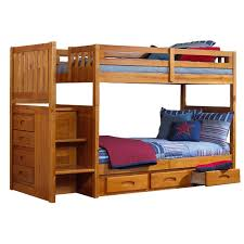 Bunk Bed With Pull Out Bed Harriet Bee Edmond Twin Over Twin Slat Bunk Bed With Slide Out