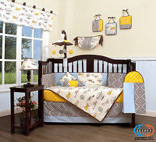 Construction Crib Bedding Set Airplane Crib Bedding Ebay