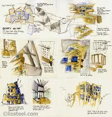 sketching inside a gehry construction site liz steel liz steel