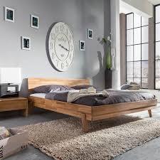 Schlafzimmer Bett 160x200 Eidsberg 160x200 In Wildeiche Massiv Geölt