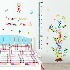 casterlyrockcartoon height chart vinyl wall stickers for kids room