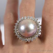 diamond pearl rings images Shop hawaii estate jewelry buyers jpg