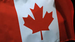 slow motion canadian flag in the wind stock video footage