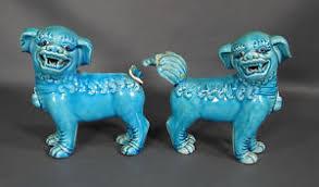 turquoise foo dogs for sale china qianlong nian zhi porcelain turquoise foo dog lion