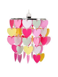 children u0027s ceiling shade with hearts fairy lights pinterest