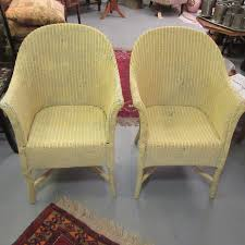 pair of vintage lloyd loom chairs eras of style eras of style