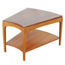wedge shaped end table mid century modern walnut wedge table by lane ebth