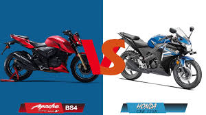 cdr bike price in india tvs apache rtr 200 4v vs honda cbr 150r youtube