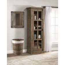 Bathroom Accent Cabinet Tall Glass Door Cabinet Wayfair