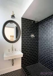 bathroom tile u0026 backsplash interior brick veneer patterned floor