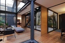 courtyard house by andres stebelski form frame modern design atrium modern courtyard