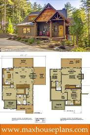 small cabin home plan with open living floor plan open floor house