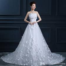 discount 2016 cheap wedding dresses corset long dress court train