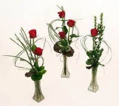 Small Vase Flower Arrangements Elite Bud Vase Trio Memorable Moment Bouquets In Galveston Tx J