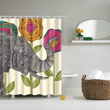 Environmentally Friendly Shower Curtain 3d Printing Waterproof Shower Curtain Modern Elephant Max Novelty