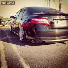 stanced toyota camry 2007 toyota camry weld cerberus lowered adj coil overs