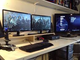 computer desk for dual monitors simple dual monitor stand