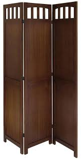 tri fold room divider amazon com legacy decor 3 panel solid wood room screen divider