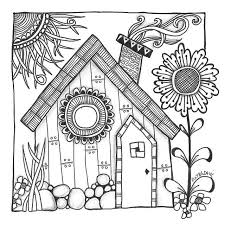 coloring pages houses 101 best art houses images on pinterest drawings coloring