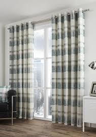 Danielle Eyelet Curtains by Balmoral Check Teal Eyelet Curtains Com