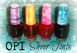 obsessive cosmetic hoarders unite new opi sheer tints nail