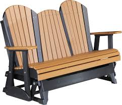 Adirondack Outdoor Furniture Luxcraft Poly 5ft Adirondack Style Glider Swingsets Luxcraft