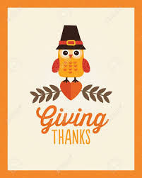 happy thanksgiving day card poster or menu template in