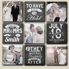 personalized wedding scrapbook customized wedding canvases with date name and photos 9