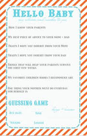 cutest baby shower idea for guests to fill out for the to be