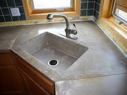 Countertop Kitchen Sink Concrete Countertops Sinks Minneapolis St Paul Mn Acid Stain