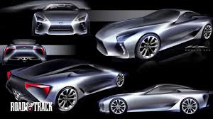 lexus concept sports car behind the scenes designing the lexus lf lc concept car youtube