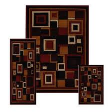 ariana three piece rug set 7543 red home dynamix http www
